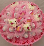 Букеты из шоколадных яиц к празднику,  подарок любимым,  девушке,  коллеге